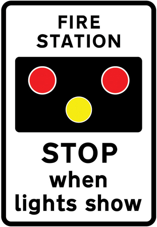 Warning Of Light Signals In The Vicinity Of A Fire Station Road Signs Direct