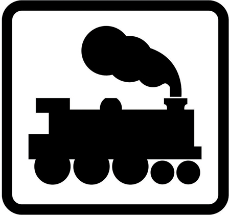 Open railway level crossing without light signals | Road